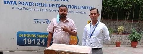 Tata Trusts handing over the first consignment of medical kits to Tripura Bhawan in New Delhi on Tuesday