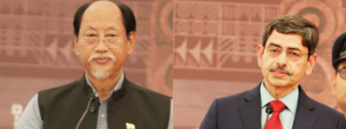 Nagaland governor RN Ravi (right) and chief minister Neiphiu Rio extended Easter greetings to the people of the state