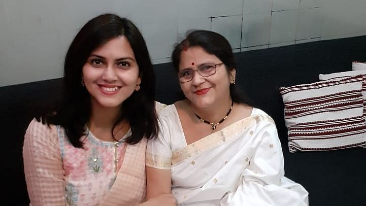 Dr Dipannita Kaushik (left) is now pursuing her Master's in public health and her mother, Simarekha Bhagawati, is an associate professor at Morigaon College in Assam