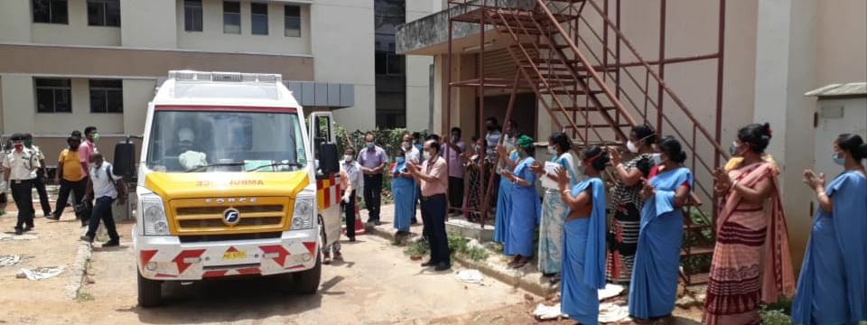 The ambulance driver has already left Tripura since the travel pass was valid till April 28