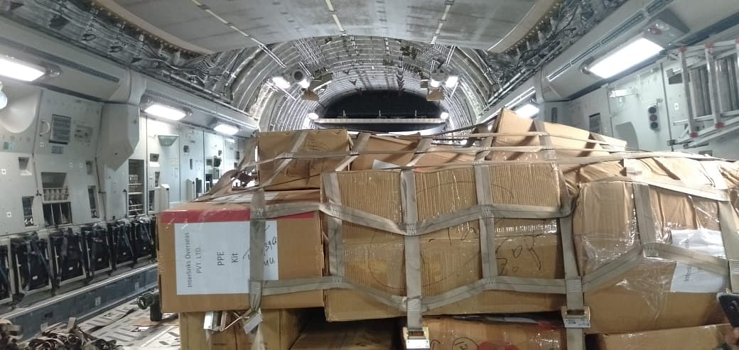 Parts of the consignment procured by the Nagland government