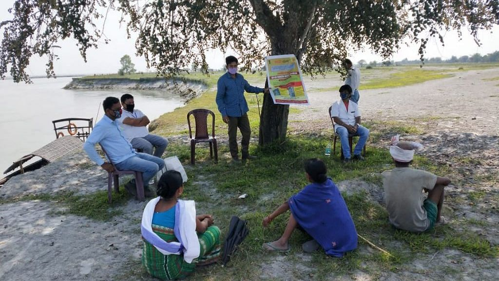 C-NES boat clinics fight COVID-19 in island dwellings of Assam