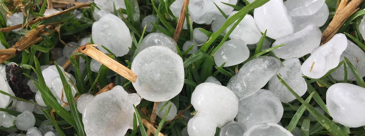 Heavy rainfall accompanied by hailstones hits Ukhrul district in Manipur on Tuesday