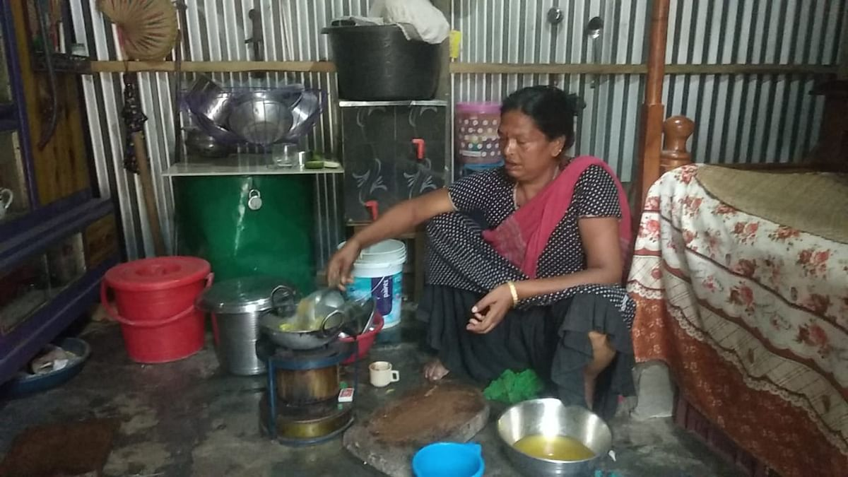 Batashi Pal, a transgender person, received support from her neighbours in terms of green vegetables on Friday