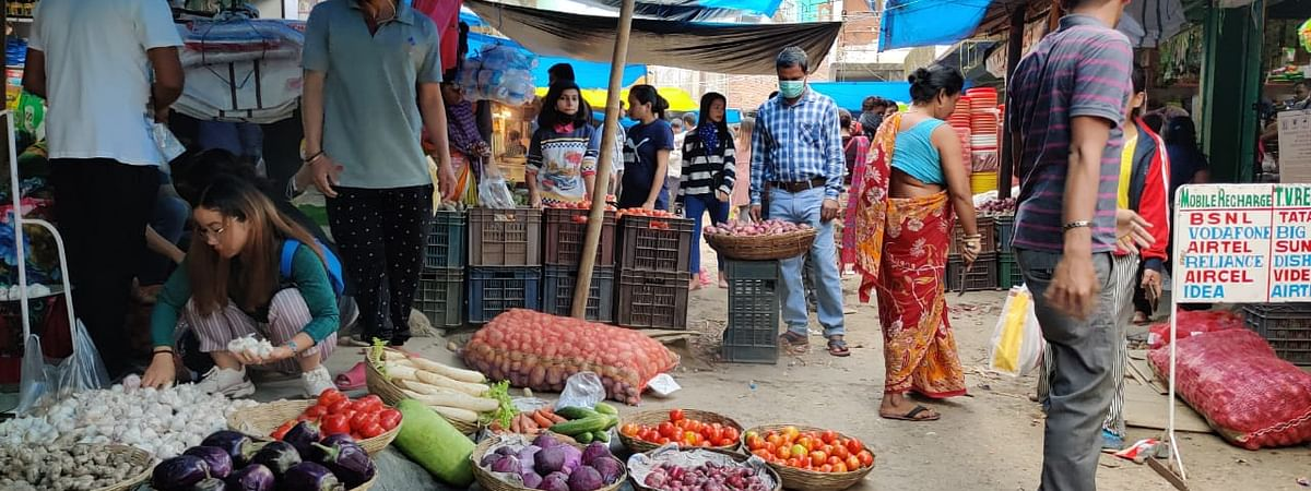 Prices of most vegetables and other essential goods have shot up in the Capital Complex following the nationwide lockdown over COVID-19