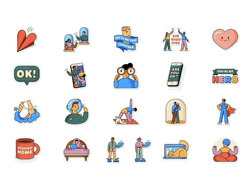 WhatsApp launches lockdown relatable 'Together at Home' stickers