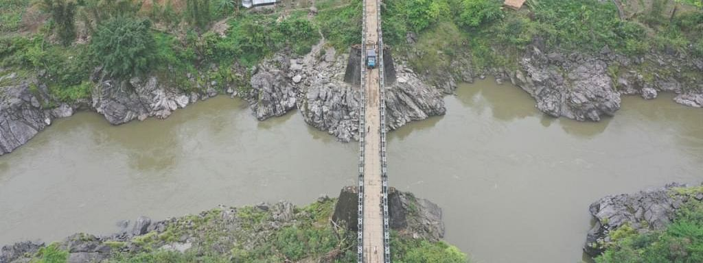 The strategic 430-foot multi-span bridge is significant because it will provide hassle-free communication to Daporijo and around 451 villages of Upper Subansiri district in Arunachal Pradesh