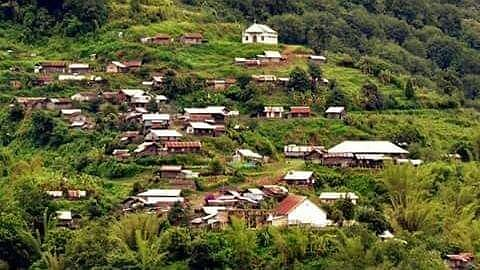 Partial view of Khankhui Khullen village in Manipur's Ukhrul district