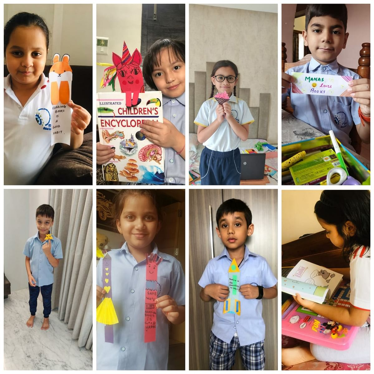 Students celebrating World Book Day