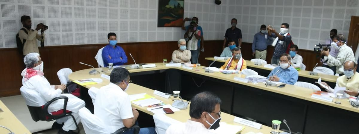 An all-party meeting being attended by the ruling BJP, CPIM, Congress, ruling ally IPFT, INPT, CPI, CPIML and NCP, among 18 political parties in Tripura, on Wednesday