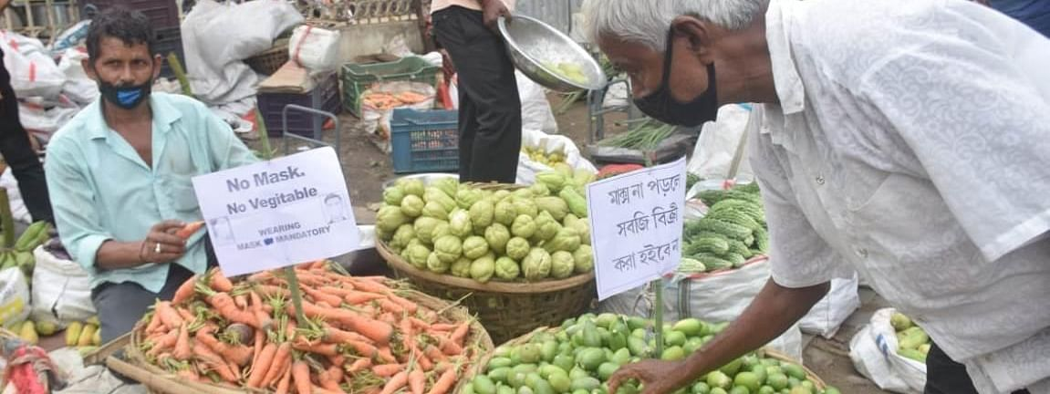 Vegetable sellers in Tripura have jointly decided that anyone who visits market without a mask will be denied vegetables