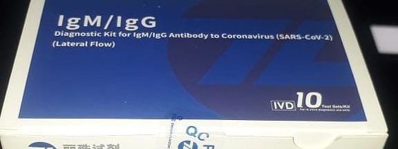 A rapid antibody test kit