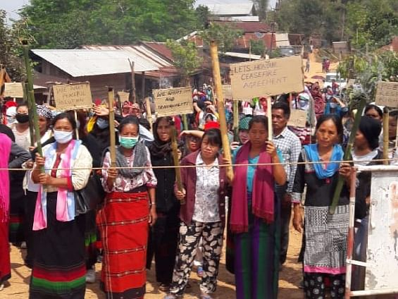 Tension in Manipur after women stop Army from crossing village