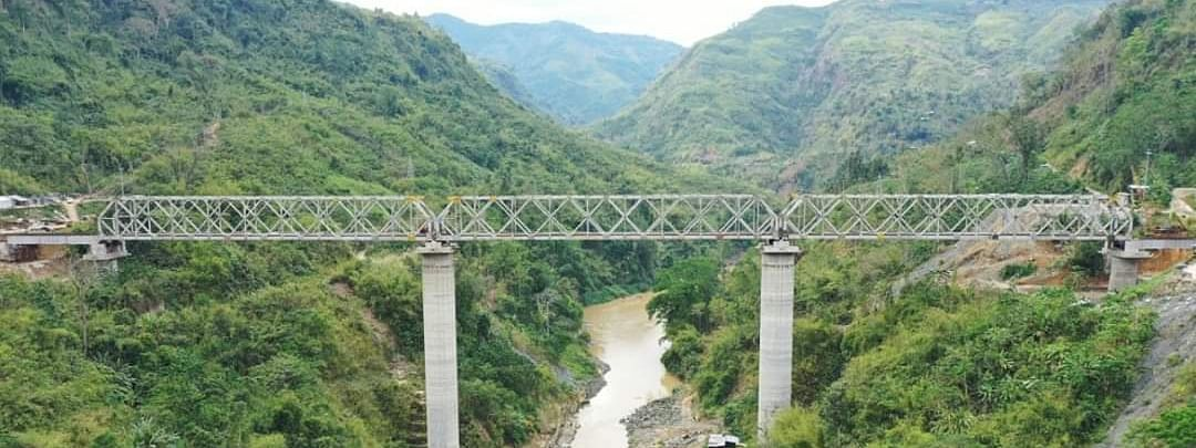 All web girders along Jiribam-Imphal rail line over Barak River successfully completed