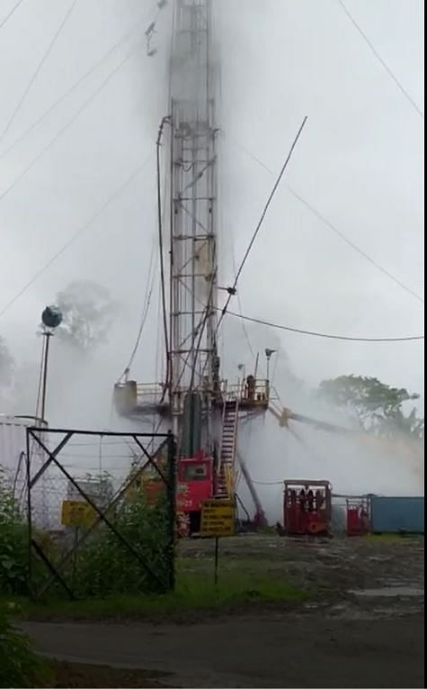 The OIL gas well 'blowout' site