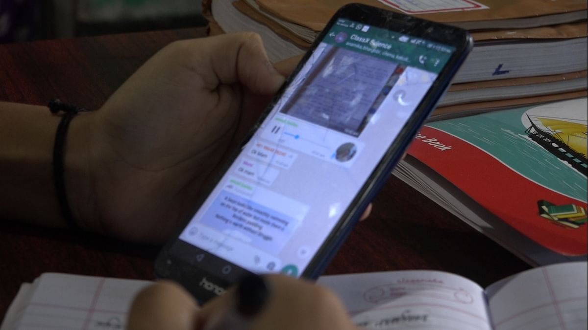 While most private institutions have access to sophisticated tools, students of government schools are dependent upon WhatsApp and YouTube links for their lessons
