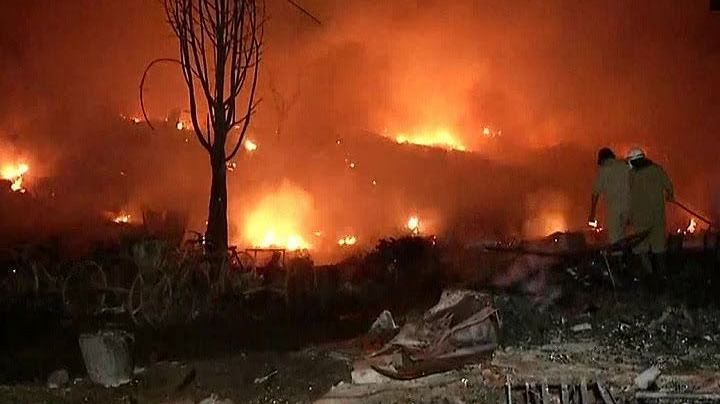 Massive fire in Delhi slums, over 250 houses gutted