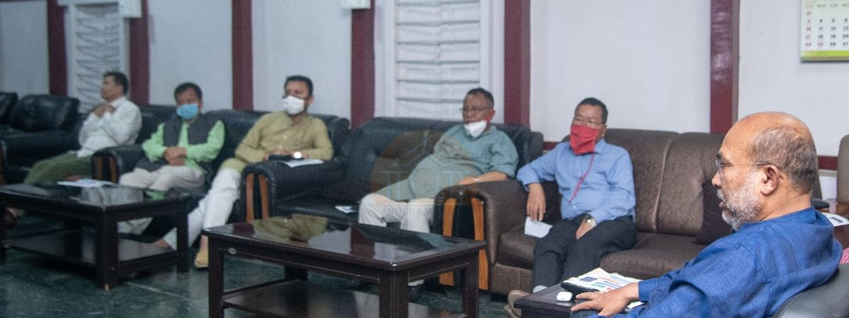 Cabinet meeting chaired by Manipur chief minister N Biren Singh held on Wednesday evening in imphal