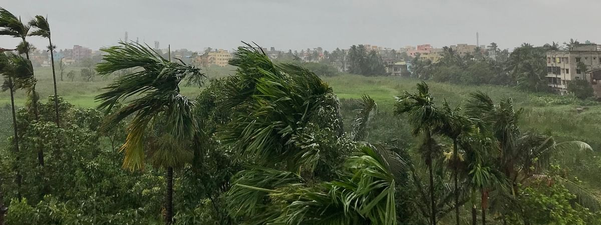 Extensive damage to kutcha houses, uprooting of communication and power poles, extensive damage to standing crop and falling trees have been reported in Sunderbans region.
