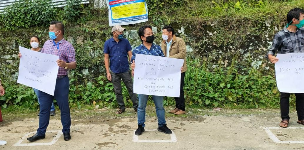 The democratic protest was called by the Confederation of Chang Students' Union (CCSU) in Tuensang