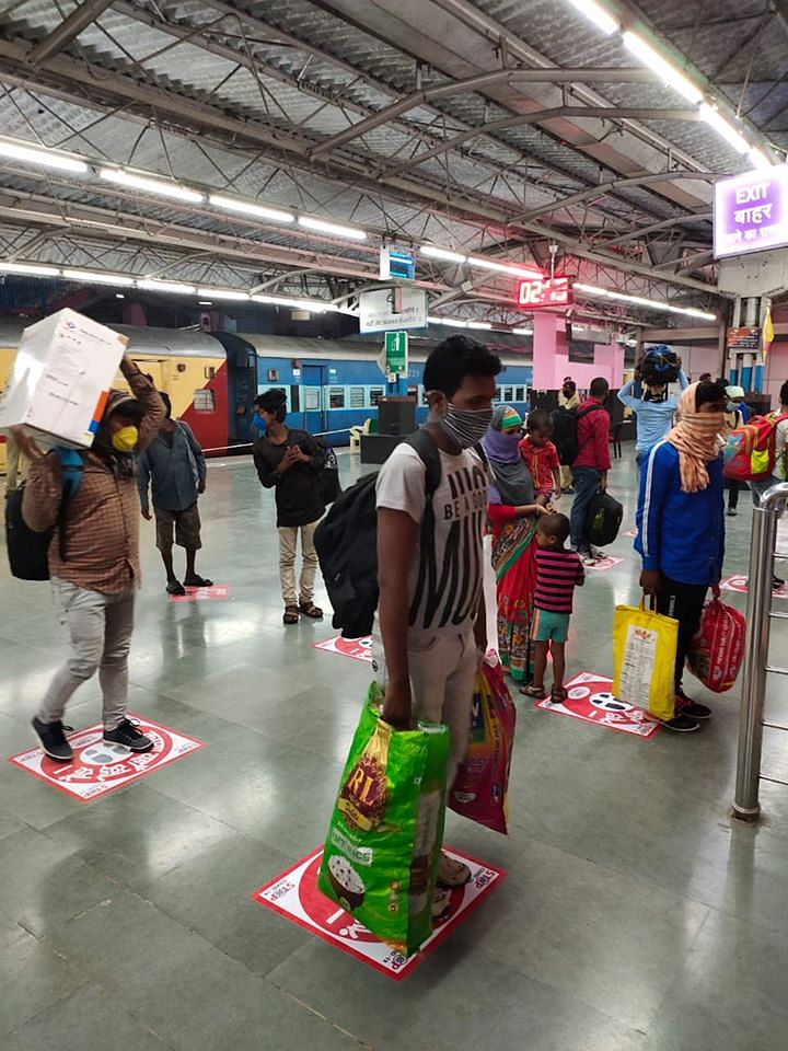 All the passengers arriving by the Shramik special trains were received by respective civil administration of the states at railway station after following all necessary Covid-19 protocols