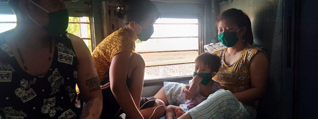 Passengers travelling by the special train from Mumbai to Manipur also include women travelling alone with children