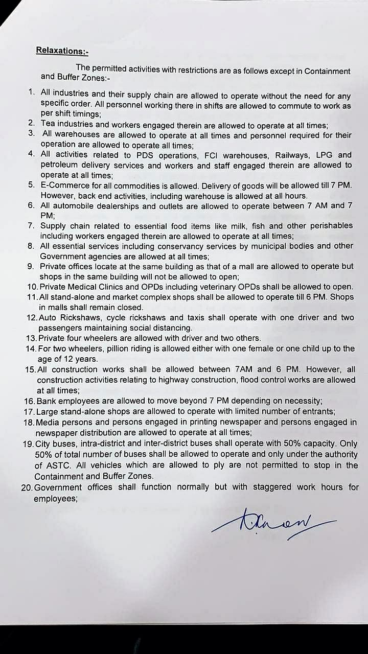 Assam government's new COVID-19 guidelines. Check details here