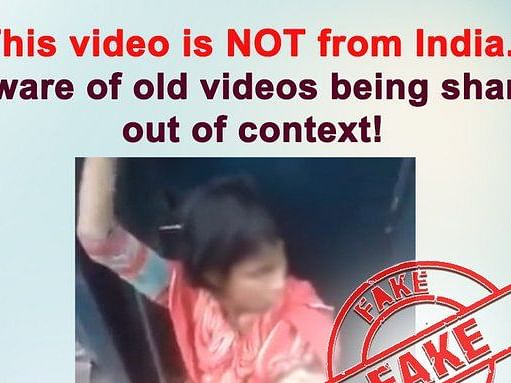 Video of woman with infant on train not from India: PIB