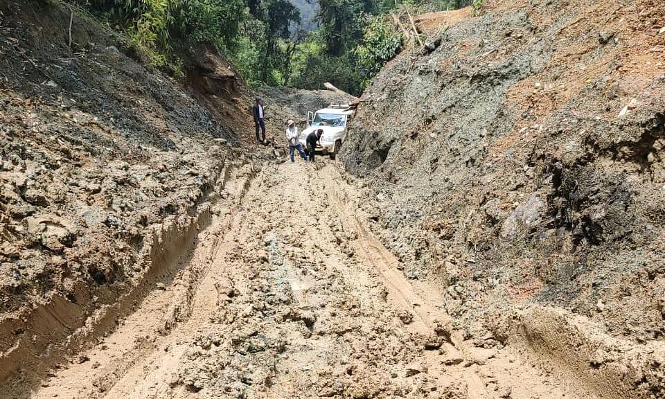 Can we even call it a road? The pathetic condition of the Shirui-Kachouphung stretch in Manipur's Kamjong district
