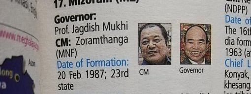 Manorama Yearbook also mixes up the image of former Mizoram CM Lal Thanhawla with current CM Zoramthanga