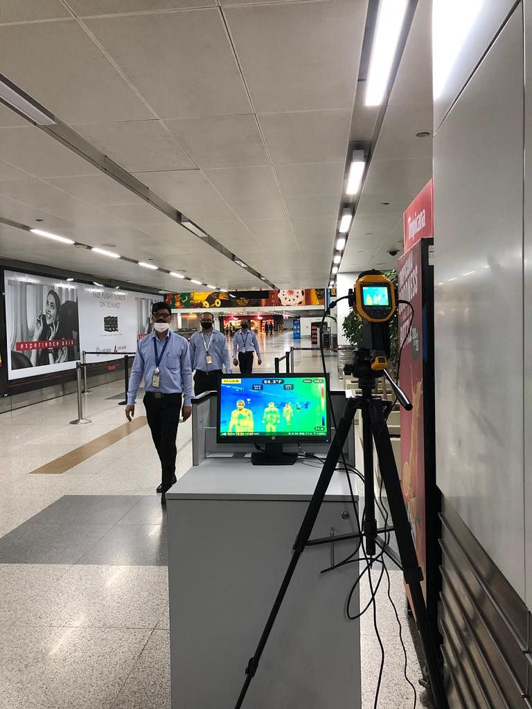 Thermal cameras being installed at the airport