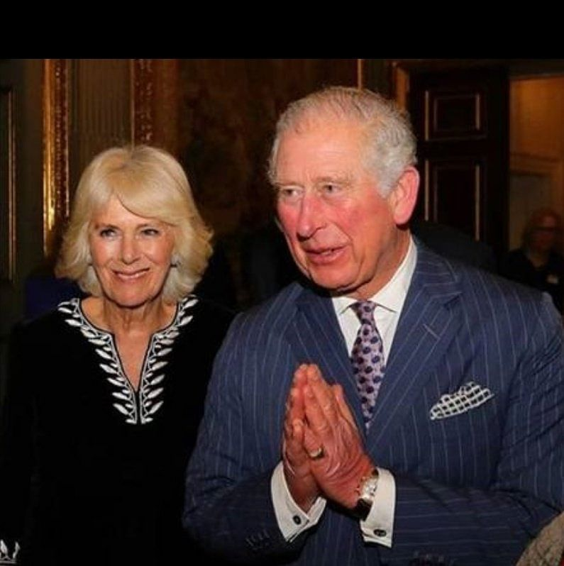 Prince Charles greeted celebrities with a namaste