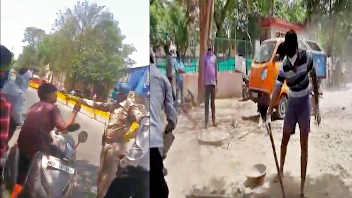 Ex-minister makes son clean roads for misbehaving with  cops in MP