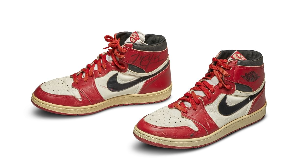 Michael Jordan's Sneakers auctioned for $560,000 at Sotheby's