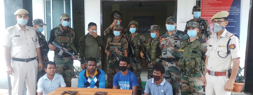 The arrested members were former members of the Birsa Commando Force, a ceasefire militant organisation
