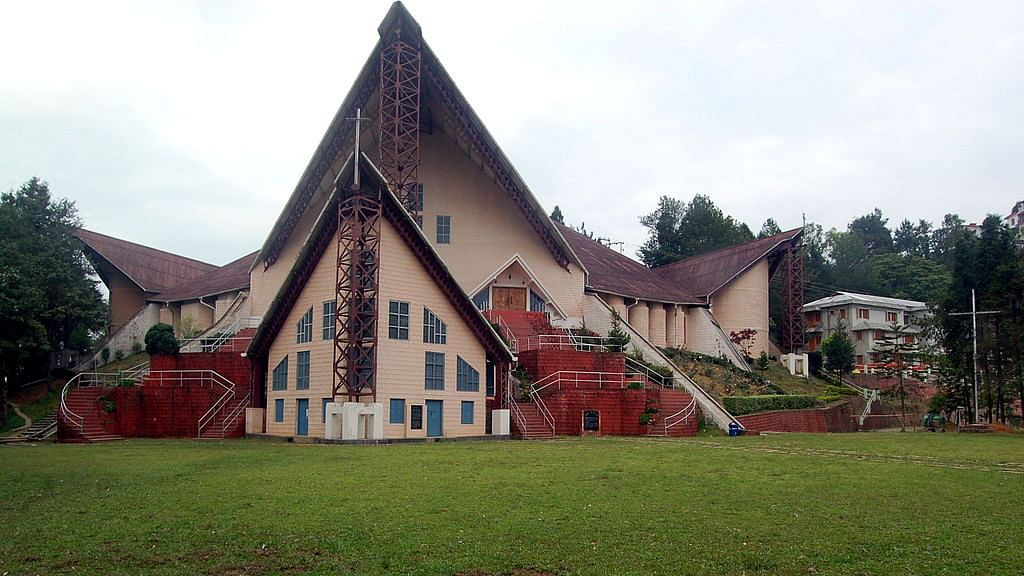 The Catholic church in Nagaland donated a sum of Rs 7 lakh