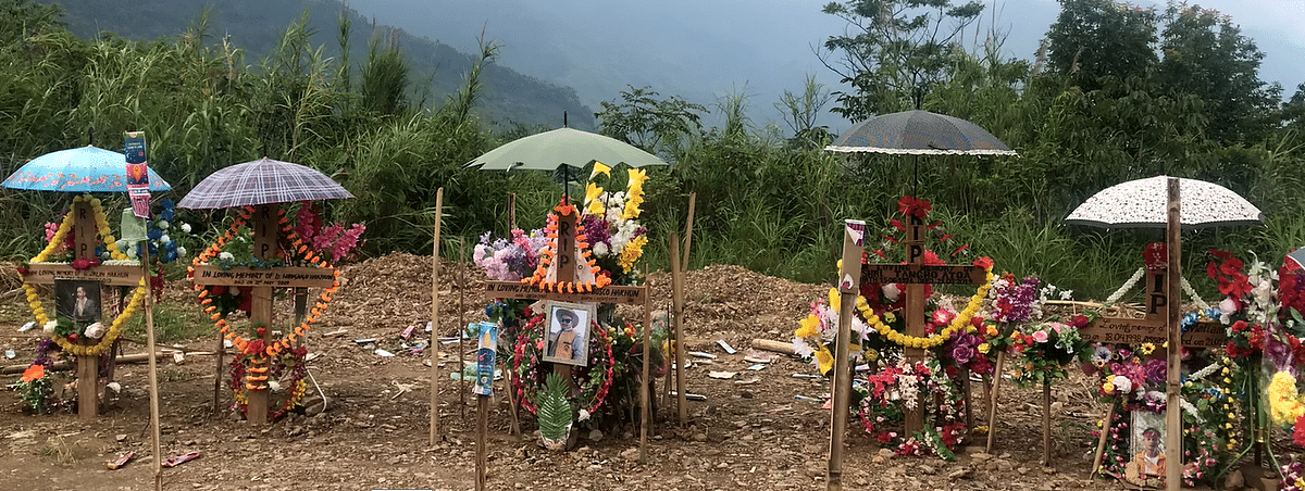 Cemetery at Dadam village where the remains of the deceased are buried