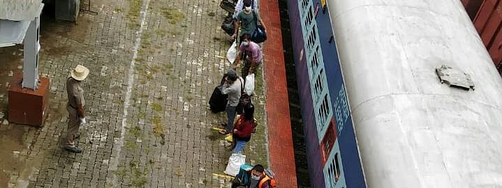 Altogether, 1,140 passengers arrived from Chennai at Jiribam train station in Manipur on Wednesday
