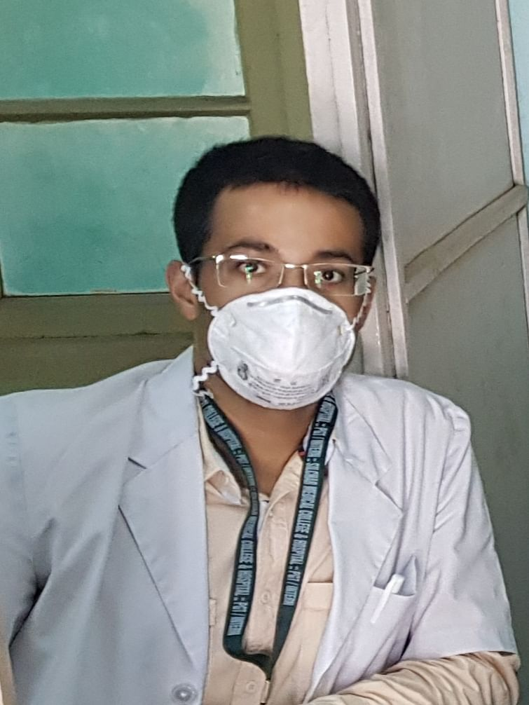 Dr Rajneel Bhattacharjee is one of the few doctors who were on duty when the first COVID-19 patient of Assam was admitted at SMCH