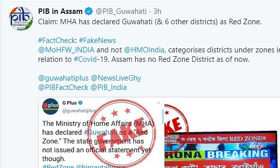 FACT CHECK: Guwahati has not been declared 'red zone'