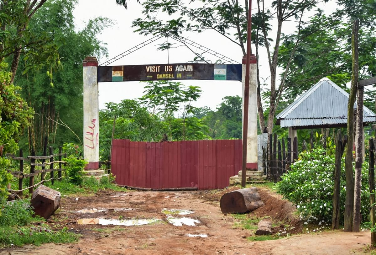 One of the international entry gates in Manipur