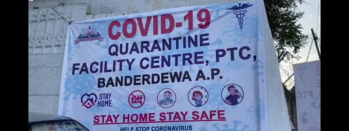 The students are kept in quarantine at thePolice Traning Centre (PTC) in Banderdewa for 14 days