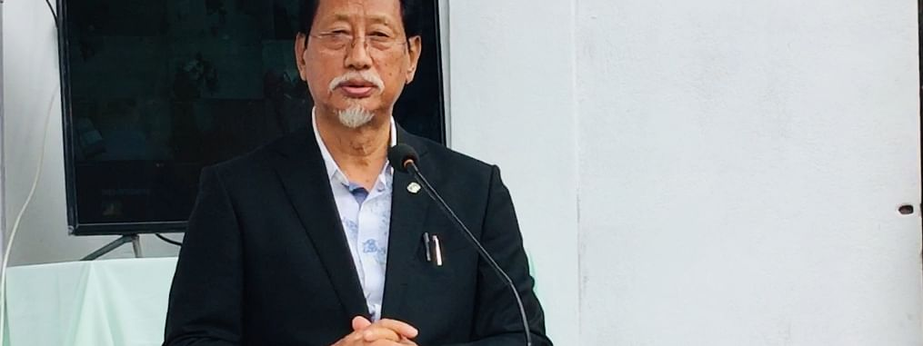 Nagaland Chief Minister Neiphiu Rio during the inauguration of the state's first referral BSL-3 laboratory in Kohima on Thursday