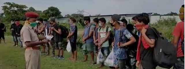 Some of the inmates who tried to flee the quarantine centre