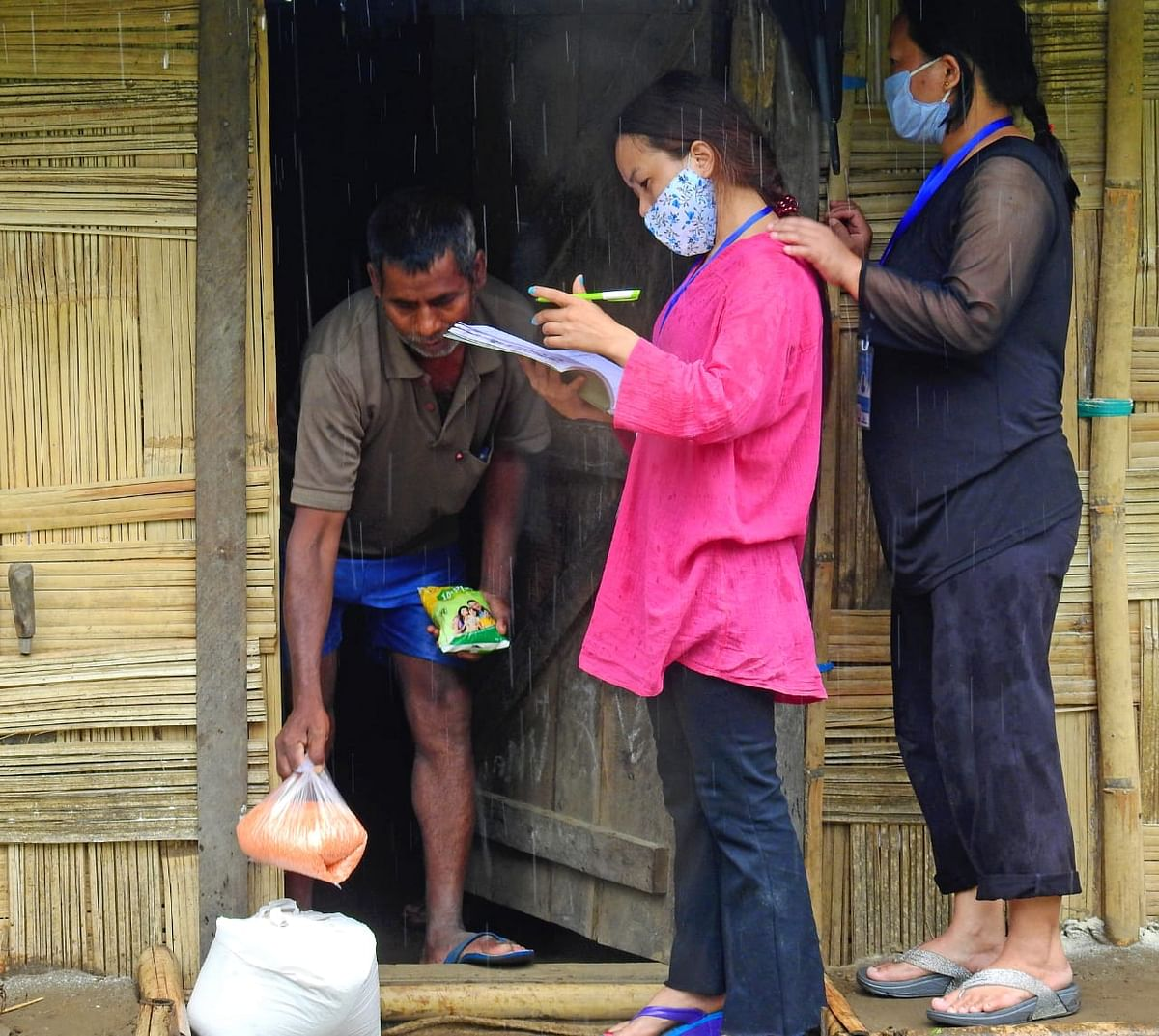 Over 1,100 masks have been distributed to the vulnerable; over 550 migrant labourers are being supplied daily ration on a weekly basis