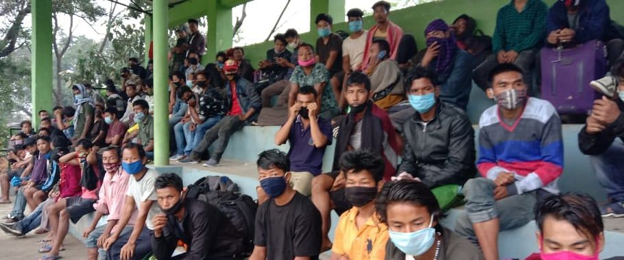 Over 200 migrant labourers were kept waiting at Ledo, Tinsukia police station with no food
