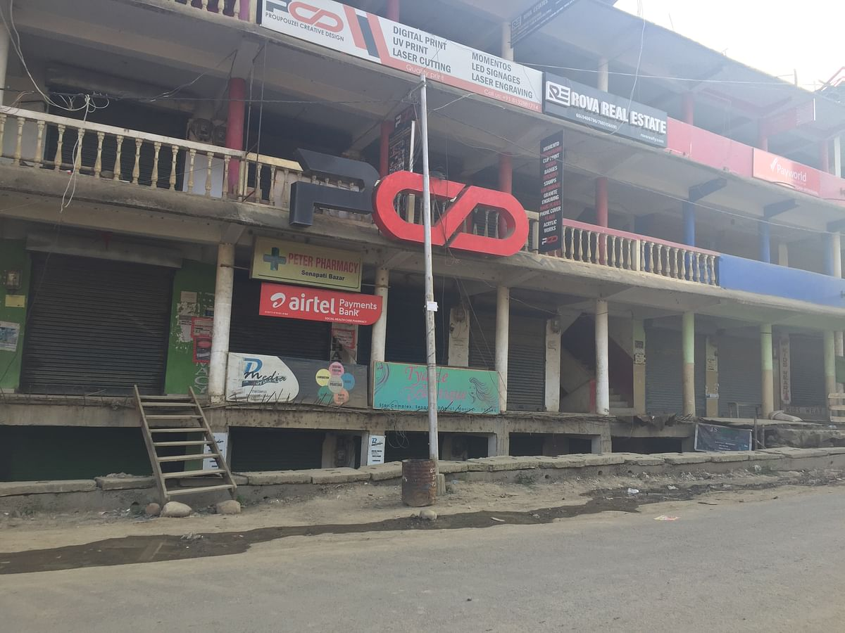 All shops remained closed on Monday in Senapati district