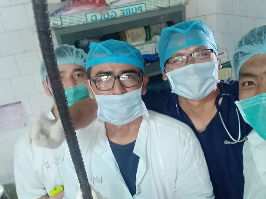 Arunachal doctors remove iron rod from man's torso, save life
