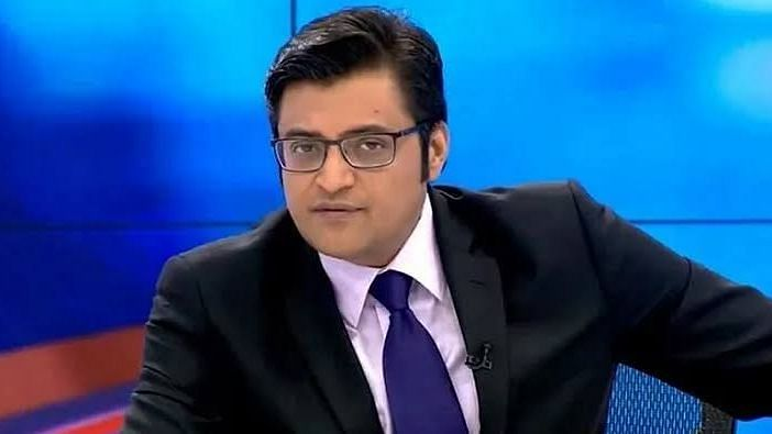 Republic Media's editor-in-chief Arnab Goswami is seen being chased by a number of journalists