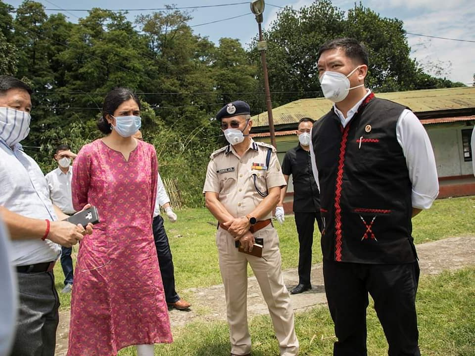 Arunachal CM inspects preparedness of Banderdewa quarantine centre